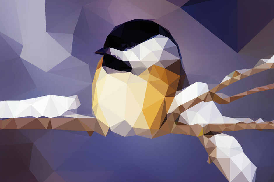 Low Poly Meise
